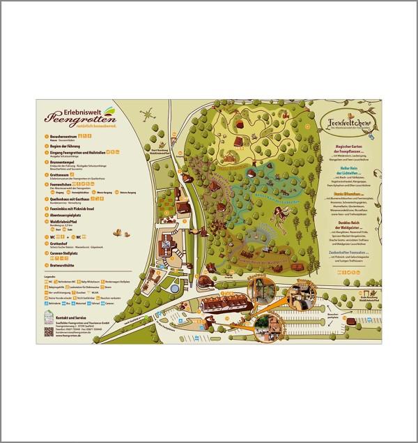Geländeplan Feengrottenpark